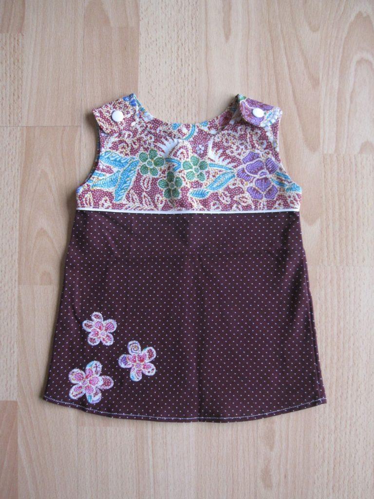 A-Linien Kleid mit Blumen