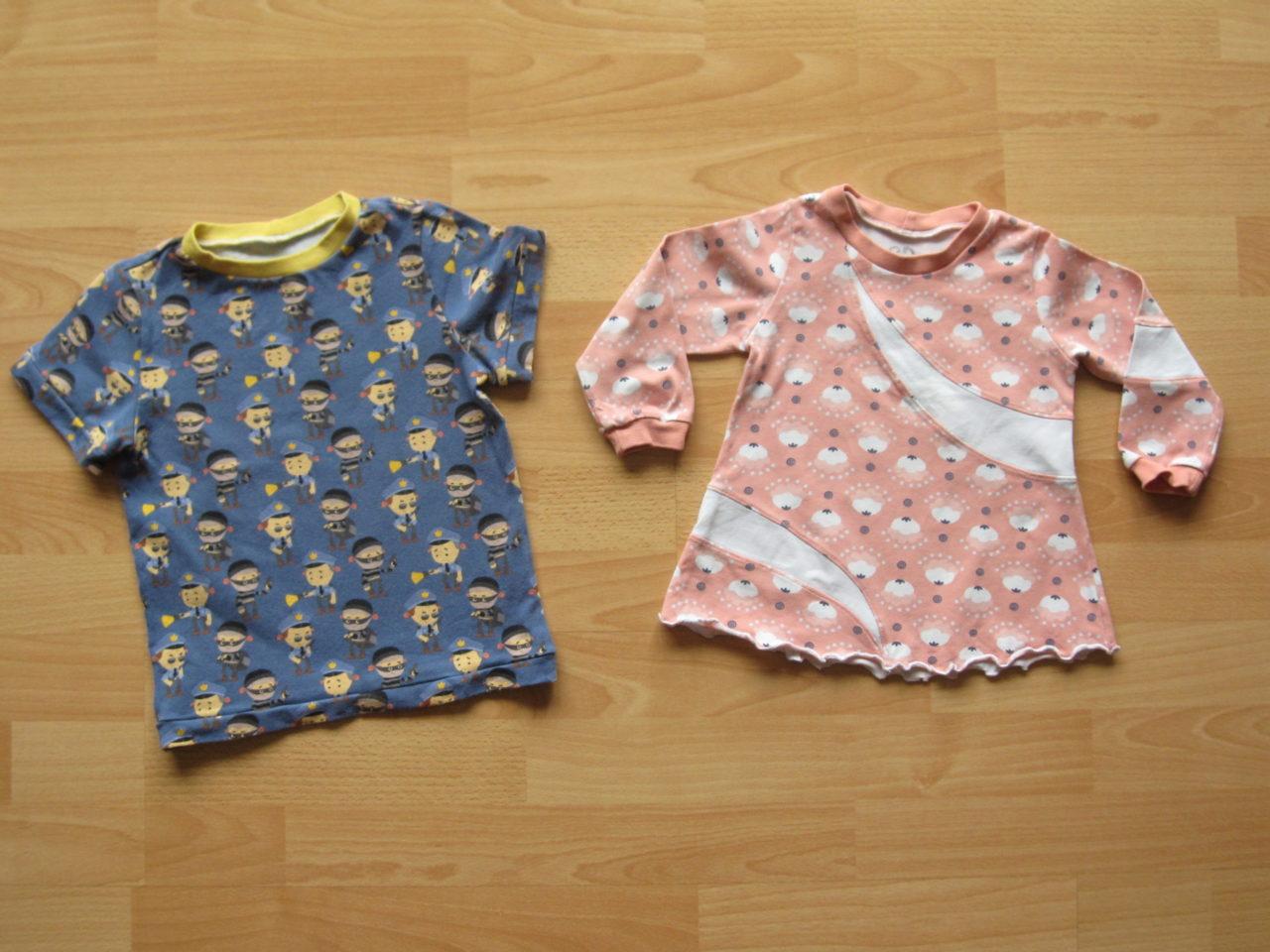 Geschwisterset aus T-Shirt und langarm Tunika