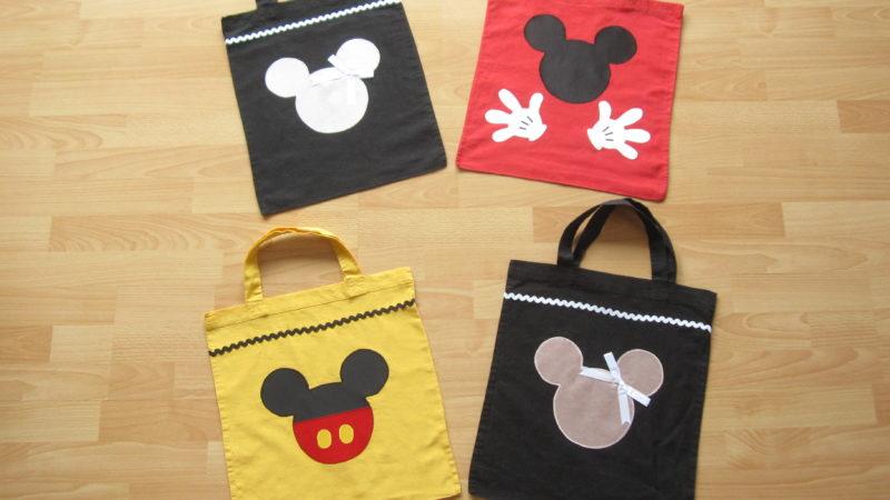 Einkaufstaschen im Disney-Maus-Design