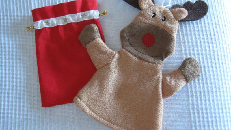 Rote Weihnachtssäckchen